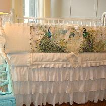 I made this Linen Crib Bedding using the IL019 in the color