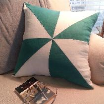 IL019 Sea Green and White, softened. Love this pillow!