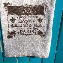Barbara, Linen (4C22)bath towels, screen printed...