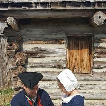 My daughter and I at the 18th century society of Texas event held at Fort Parker. Jack Tar comes...