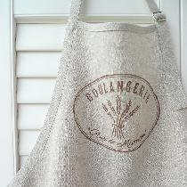 This apron is made using L019 Natural mix. It has been stencilled (using stencil cut on Cameo Si...