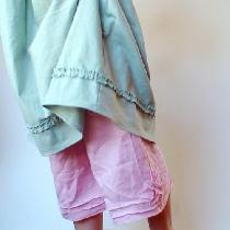 Love pink and mint together. Another pair of linen bloomers I made to go with the mint linen tun...