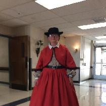 I used 5.3 oz Linen. I didn't use a pattern for the skirt. The Zouave Jacket is from one of the...