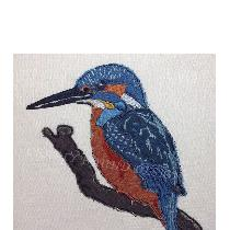 KINGFISHER - designed and stitched by myself using doggie bag pieces