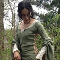 This is me in a medieval Bliaud.  The long sleeves have ties so I can cinch them up and keep the...