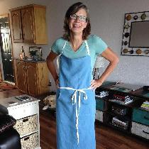I made this apron for my daughter.... the chef...I was inspired by a wonderful
