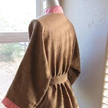 Victoria Jones Collection jacket pattern #230 in Ginger and Scarlet linen.