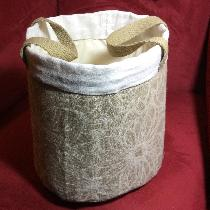 Barbara, Linen buckets for bathroom towels, soaps...