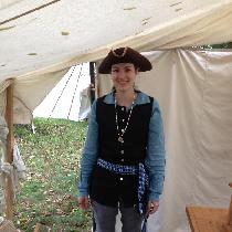 Molly, One of my 18th Century rendezvous outfit...