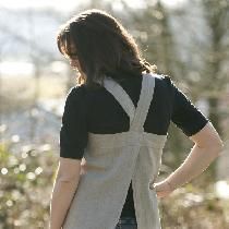 Linen pinafore apron. Made out of the softened middle and heavy weight natural linen, these apro...