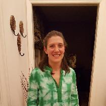 Alexis, This is a shibori dyed linen tunic I mad...