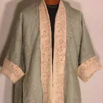 This is an 18th century garment called a French Bedgown.  This one was made from two different c...