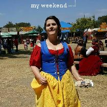 Garb for Renaissance Faire -- we decided to be Disney wenches.  My skirt is a gorgeous yellow li...