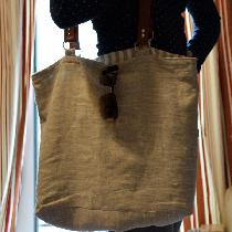 A beach bag for my recent beach vacation. Made from mix natural linen and lined with a natural a...